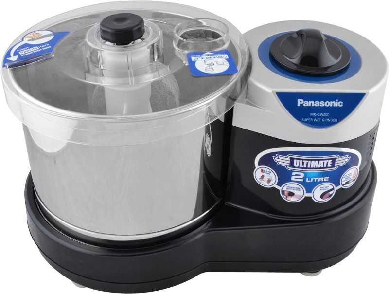 Panasonic MK-GW200 Super Wet Grinder(Black)
