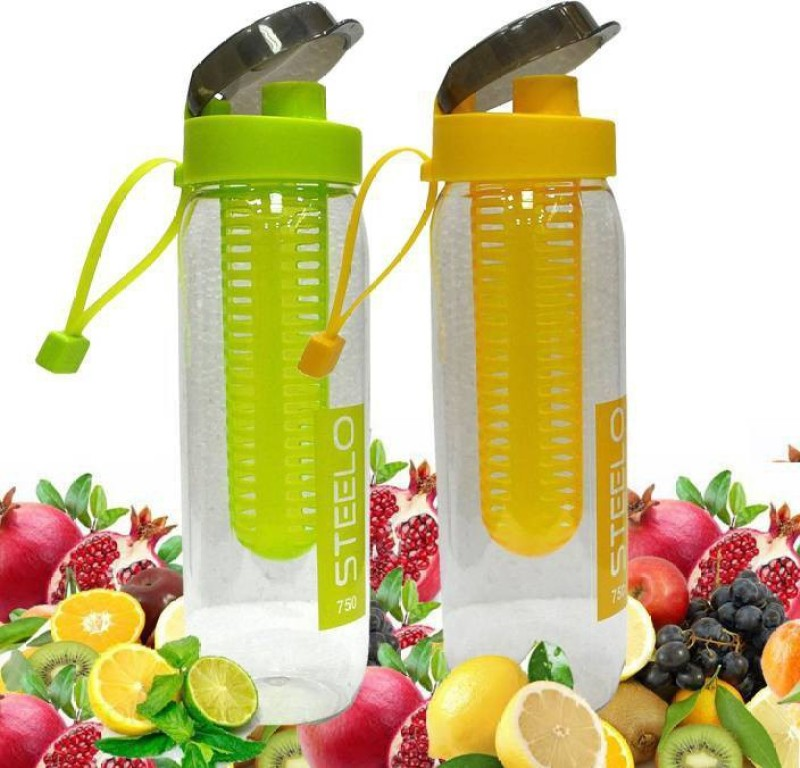 Steelo Fruit Infuser Useful 750 ml Bottle(Pack of 2, Multicolor)
