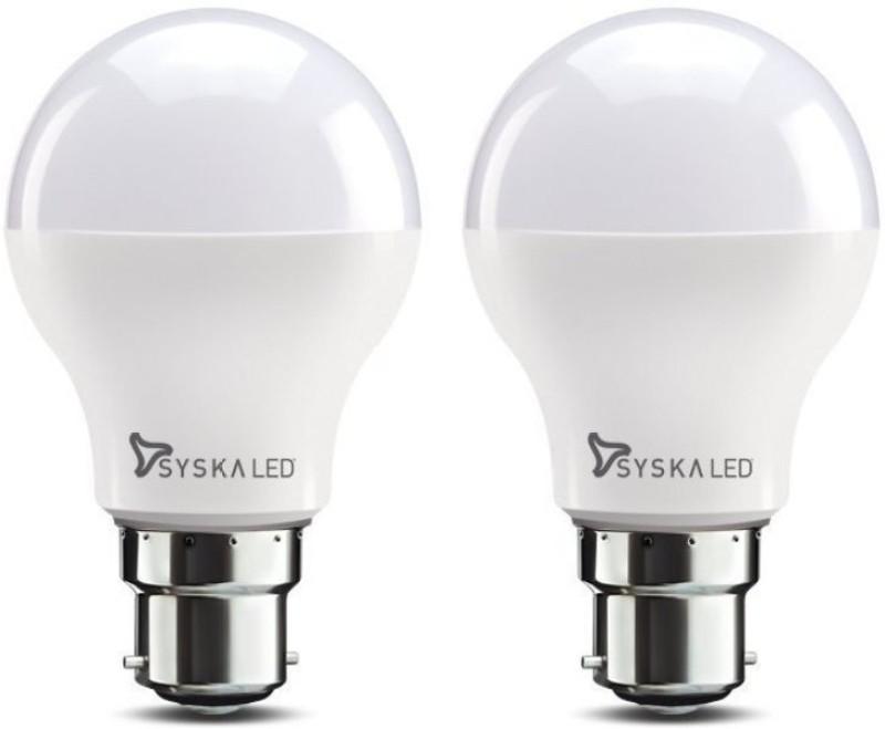 Syska 9 W Standard B22 LED Bulb(White, Pack of 2)