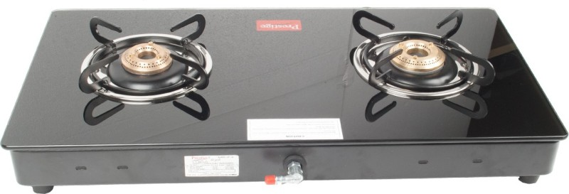 Prestige Glass Manual Gas Stove(2 Burners)