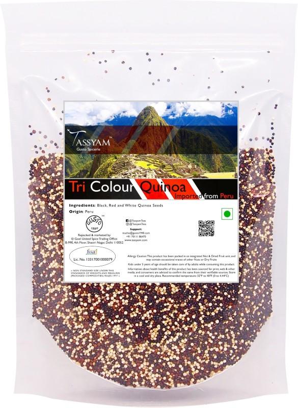 Tassyam Gluten Free Peruvian Tri-colour Quinoa Grain, 750g Pouch | Imported from Peru Quinoa(750 g)