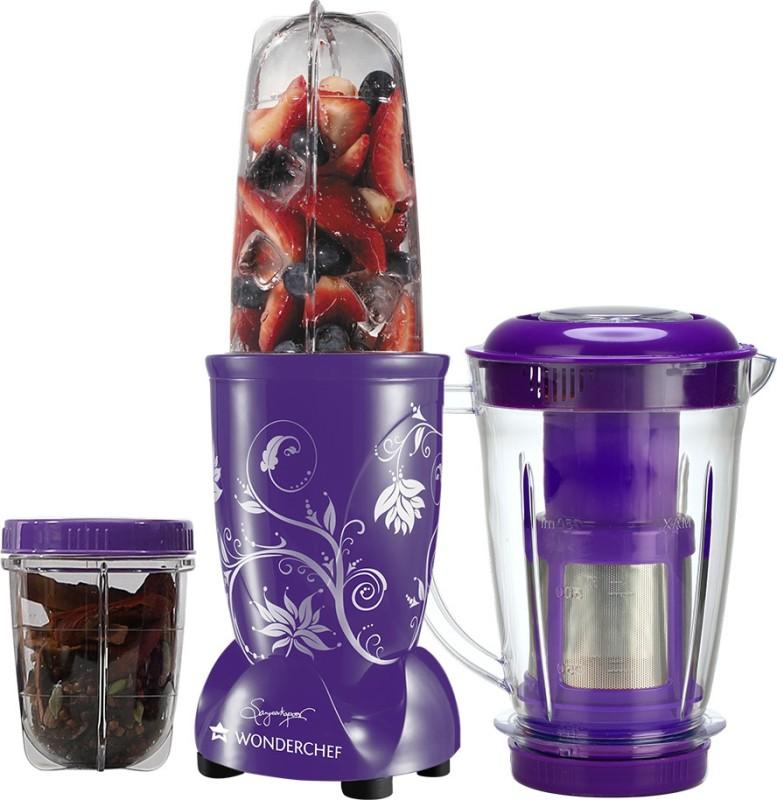 Wonderchef Nutri-Blend with Juicer Attachment 400 W Juicer Mixer Grinder(Purple, 3 Jars)