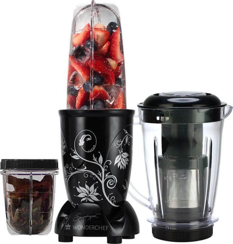 Wonderchef Nutri-Blend with Juicer Attachment 400 Juicer Mixer Grinder(Black, 3 Jars)