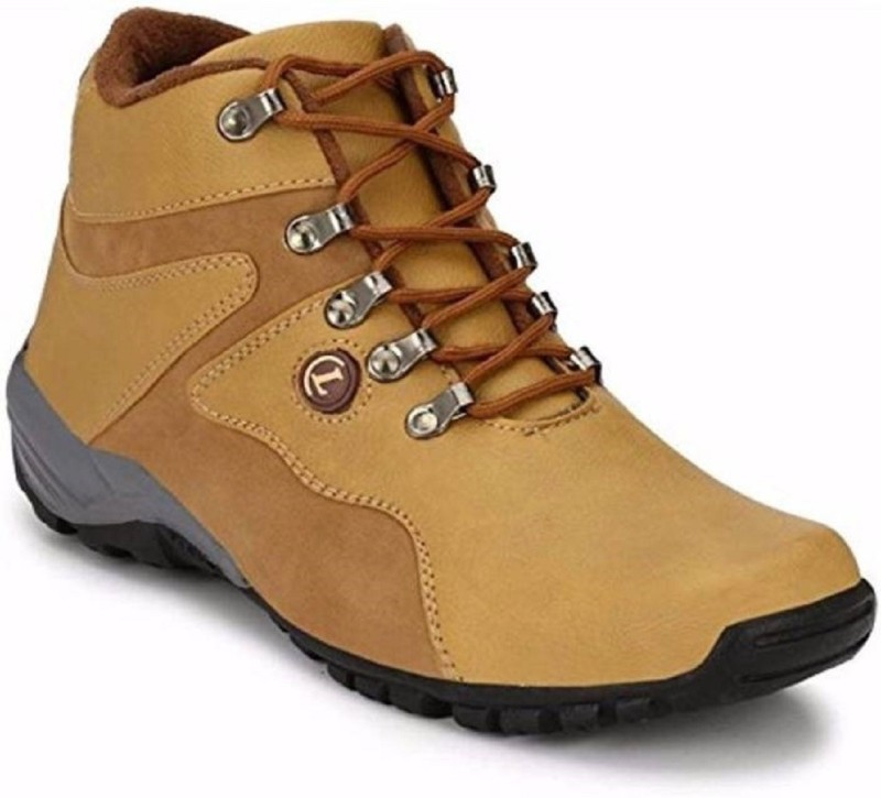 Aadi Tan High Ankle Casual Shoes Boots For Men(Tan)