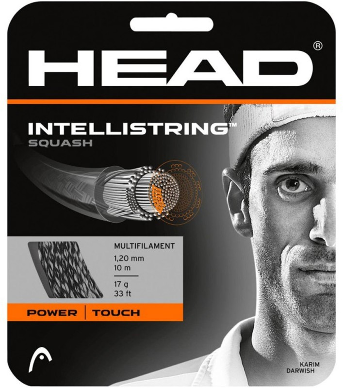 Head Evolution Pro Squash 17 Squash String - 10 m(White)