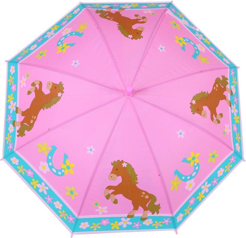 FabSeasons Kids Fancy 3D & Digital Printed, Single Fold Stick Automatic Umbrella For Rains, Summer and Sun Protection Umbrella(Pink)