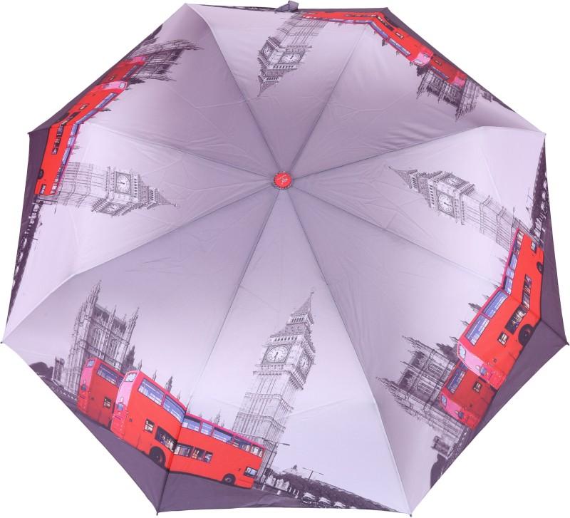 FabSeasons London City Digital Printed 3 Fold Automatic Umbrella for Rains, Summer and all Seasons Umbrella(Multicolor)