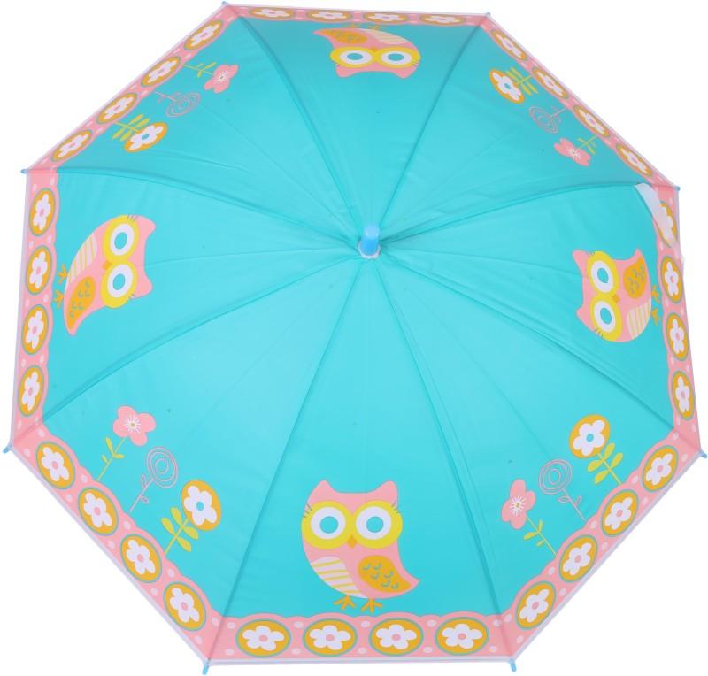 FabSeasons Kids Fancy 3D & Digital Printed, Single Fold Stick Automatic Umbrella For Rains, Summer and Sun Protection Umbrella(Blue)