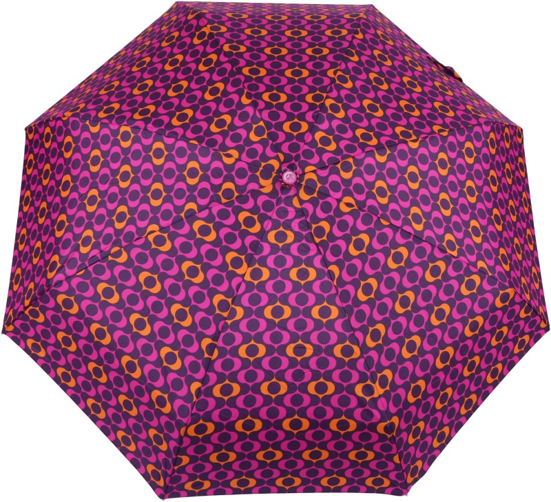 FabSeasons 5 fold Digital Printed Small Compact Manual Umbrella which fits in your Handbag for women Umbrella(Purple)