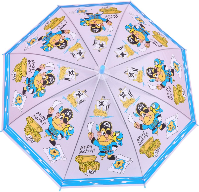 FabSeasons Kids Fancy 3D & Bee Digital Printed, Single Fold Stick Umbrella For Rains, Summer and Sun Protection Umbrella(Blue)