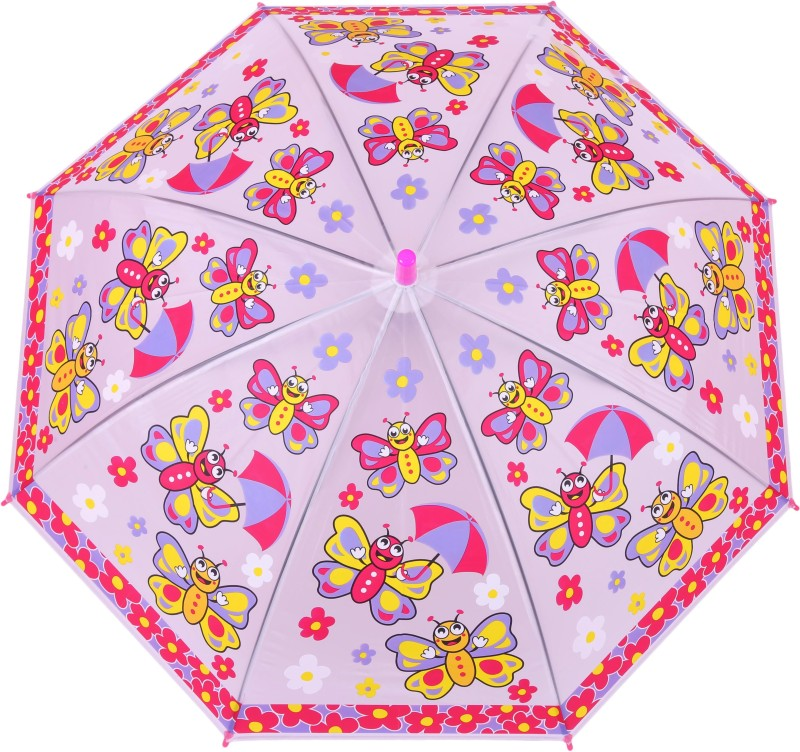 FabSeasons Kids Fancy 3D & Bee Digital Printed, Single Fold Stick Umbrella For Rains, Summer and Sun Protection Umbrella(Red)