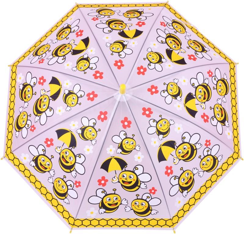 FabSeasons Kids Fancy 3D & Bee Digital Printed, Single Fold Stick Umbrella For Rains, Summer and Sun Protection Umbrella(Yellow)