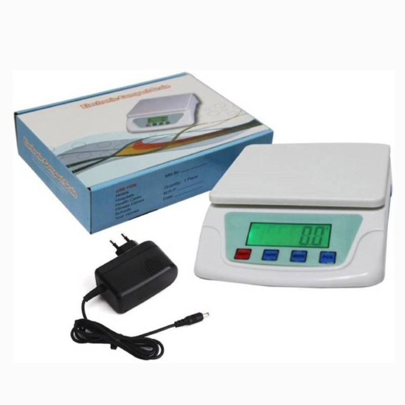 AmtiQ Ts-200v White Electronic Digital 7kg With Adapter Weighing Scale (White) Weighing Scale(White)