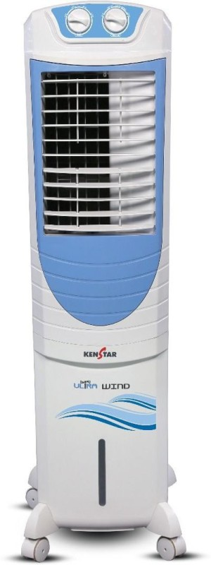 Kenstar ULTRA WIND Personal Air Cooler(WHITE AND BLUE, 35 Litres)