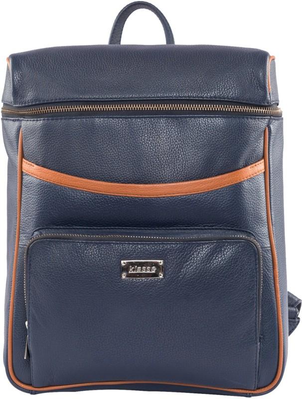 Klasse Spacious N Fashionable 2.5 L Laptop Backpack(Blue)