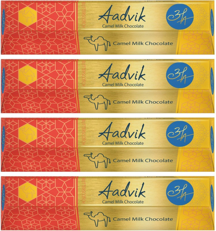 Aadvik Camel Milk Butterscotch Chocolate Bars(Pack of 4, 112 g)