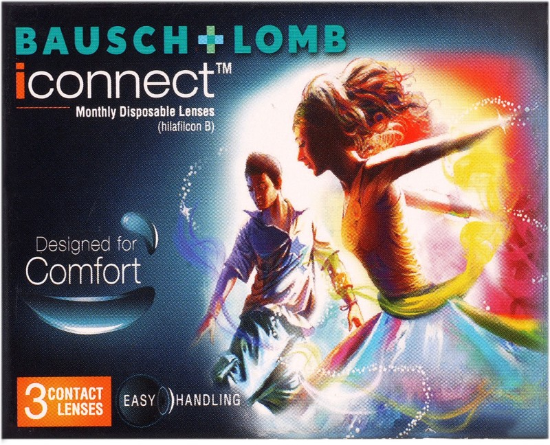 Bausch & Lomb -7.00 Monthly Contact Lens(-7.00, transparent, Pack of 3)