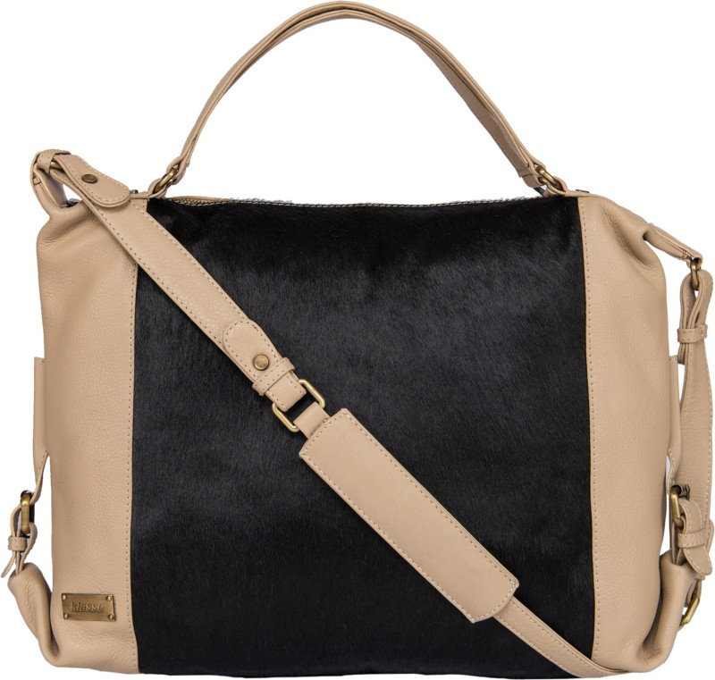 Klasse Women Black, Beige Shoulder Bag