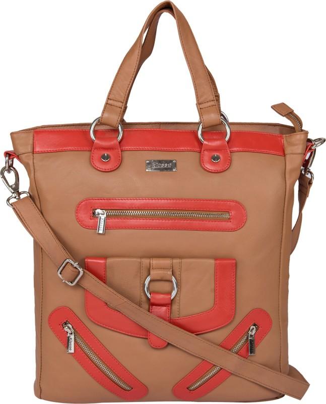 Klasse Women Tan Shoulder Bag