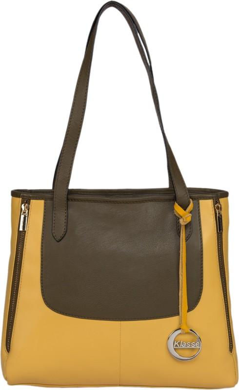 Klasse Women Yellow Shoulder Bag