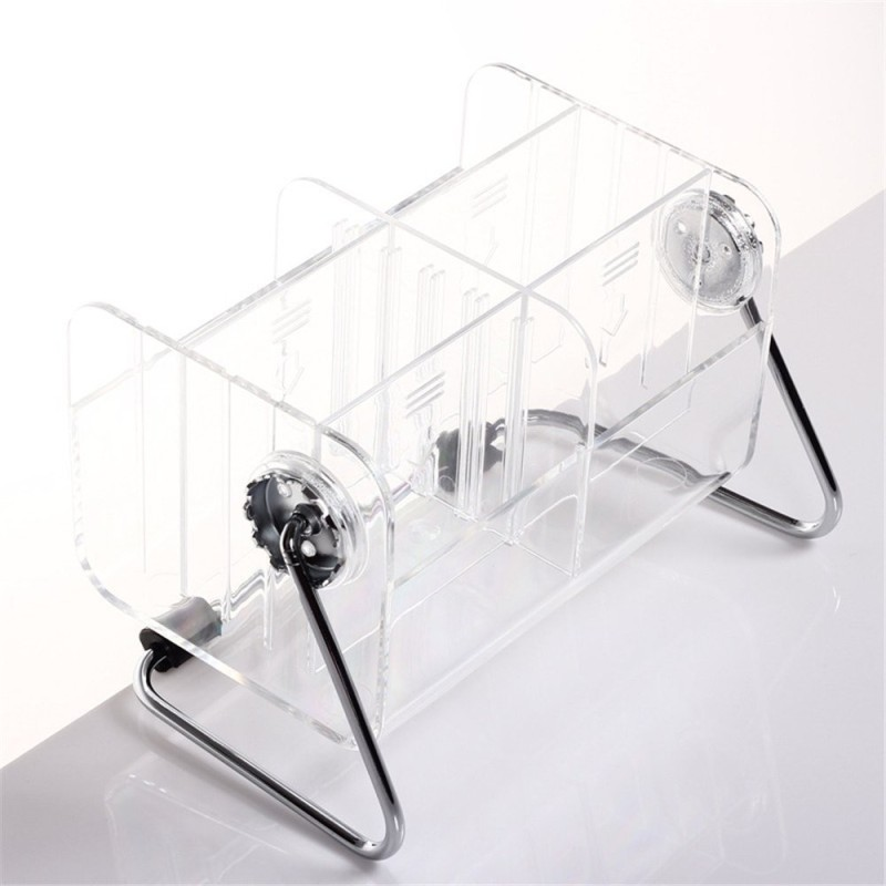 kanha Multifunctional Home Storage Stand Shelf Acrylic TV Remote Control Clear Holder Mobile Phone Key Pen Glasses Rack Cosmetic Organizer Box Bins Acrylic Wall Shelf(Number of Shelves - 1, White)