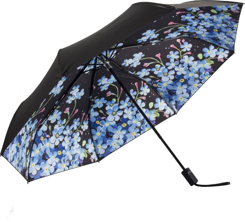 HOSHI THREE FOLD MANUAL OPEN FLOWER UMBRELLA Umbrella(Multicolor)
