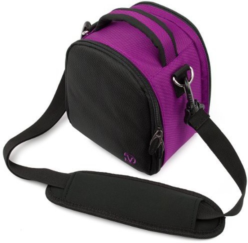 Vangoddy Carrying Bag for Nikon D3200 24.2 Mp Cmos Digital SLR Camera Bag(Purple)