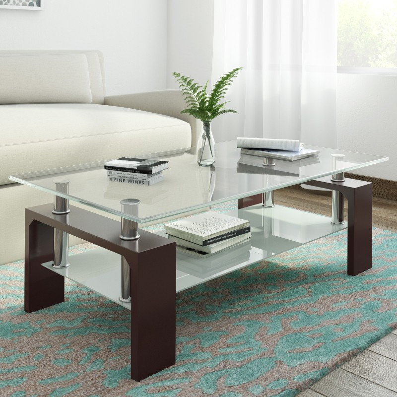 RoyalOak Atlas Engineered Wood Coffee Table(Finish Color - Black)