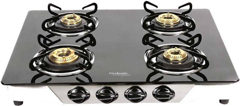 Hindware ARMO GL 4B Stainless Steel Manual Gas Stove(4 Burners)