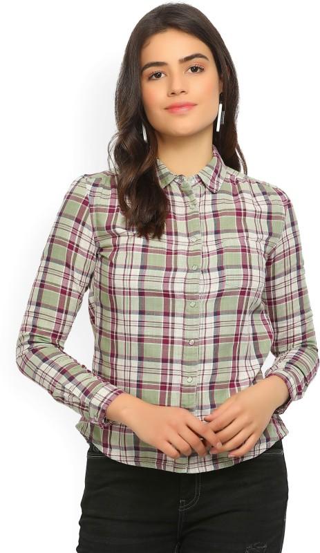 Wrangler Women Checkered Casual Multicolor Shirt