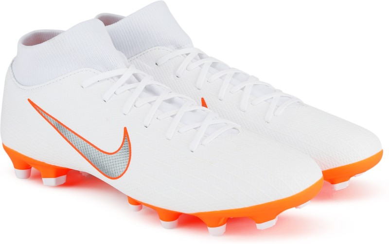 Nike SUPERFLY 6 ACADEMY FG/MG Football Shoes For Men(White)