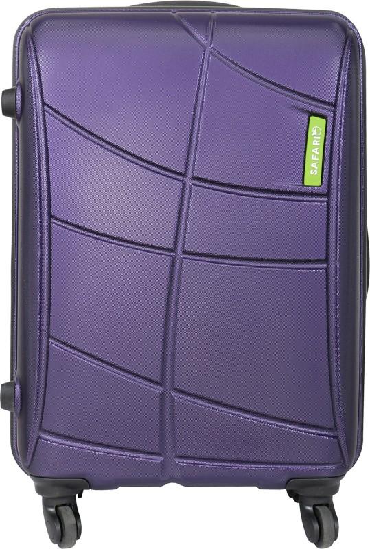 Safari Vivid Plus 55 cm Hard Trolley (Purple) Cabin Luggage - 22 inch(Purple)