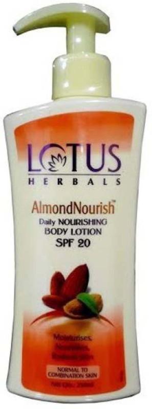 LOTUS HERBAL ALMOND NOURISH DAILY NOURISHING BODY LOTION - SPF 20 NA(250 ml)