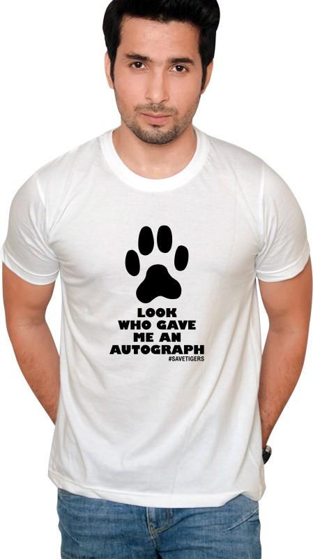 Jolly Good Fellow Printed Men's Round Neck White T-Shirt