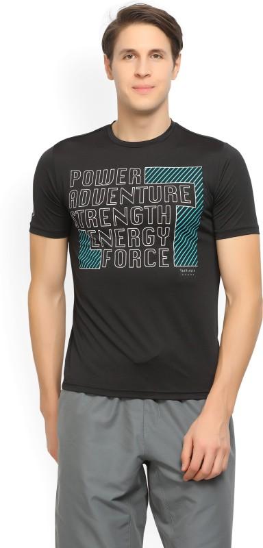 Van Heusen Sport Printed Mens Round Neck Black T-Shirt