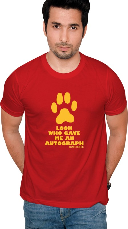 Jolly Good Fellow Printed Men's Round Neck Red T-Shirt