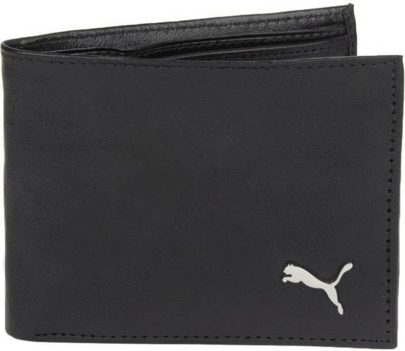 puma Men Black Genuine Leather Wallet(3 Card Slots)