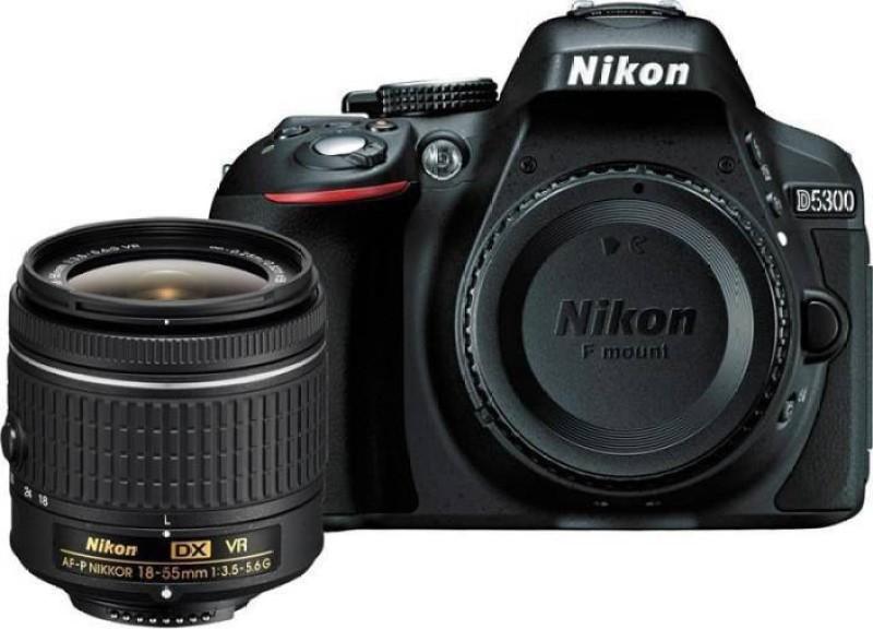 Nikon D5300 DSLR Camera Body with Single Lens: AF-P DX NIKKOR 18-55 mm f/3.5-5.6G VR Kit (16 GB SD Card + Camera Bag)(Black)
