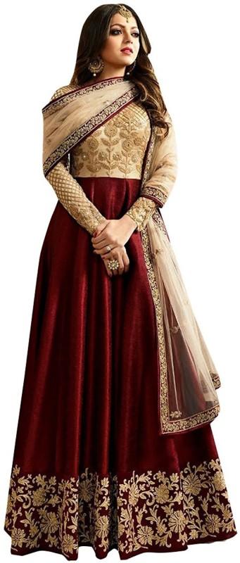 Ap Enterprise Anarkali Gown(Maroon)