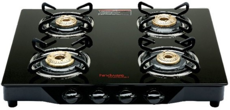 Hindware ARMO GL 4B AI Stainless Steel Automatic Gas Stove(4 Burners)