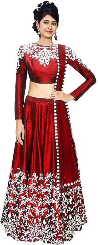 Florence Striped Lehenga Choli(Maroon)