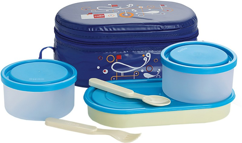 Cello Full on Blue 3 Containers Lunch Box(900 ml)