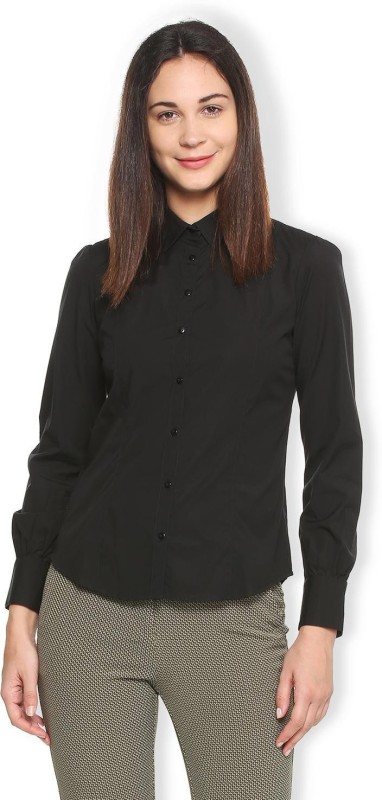 Van Heusen Women Solid Formal Shirt