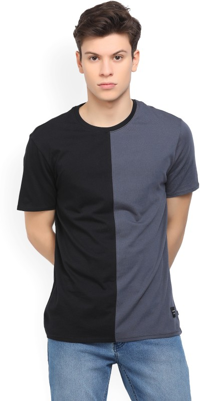 Levis Solid Mens Round Neck Black, Grey T-Shirt