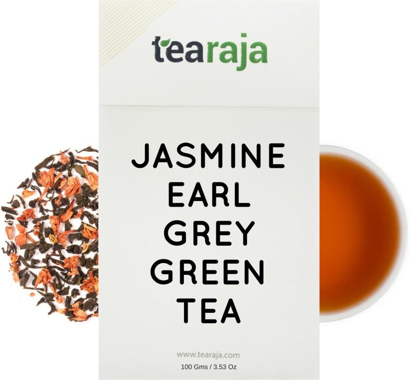 Tearaja Jasmine Earl Grey Green Tea Jasmine Green Tea(100 g, Vacuum Pack)