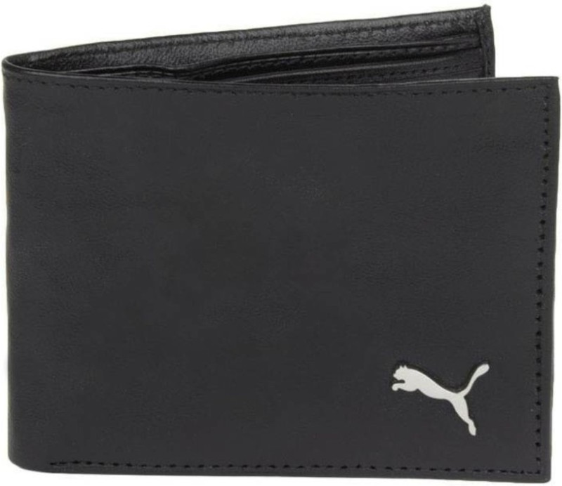 Puma Men Formal Black Genuine Leather Wallet(4 Card Slots)