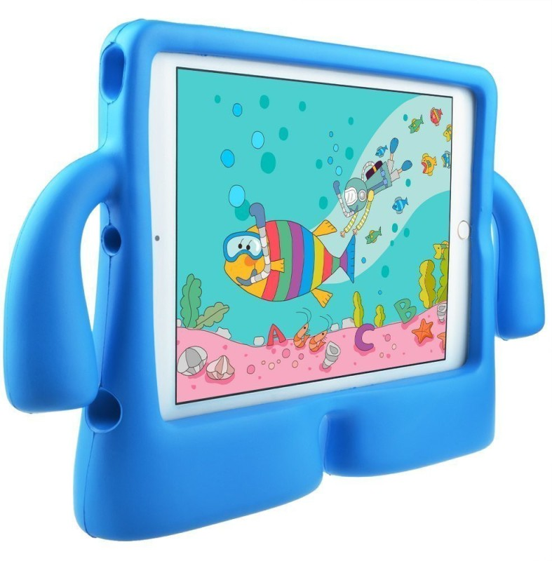 DMG Back Cover for Apple iPad 2018 9.7 Inch(Blue, Shock Proof, Rubber)