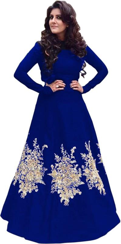 Fabcartz A-line Gown(Blue)
