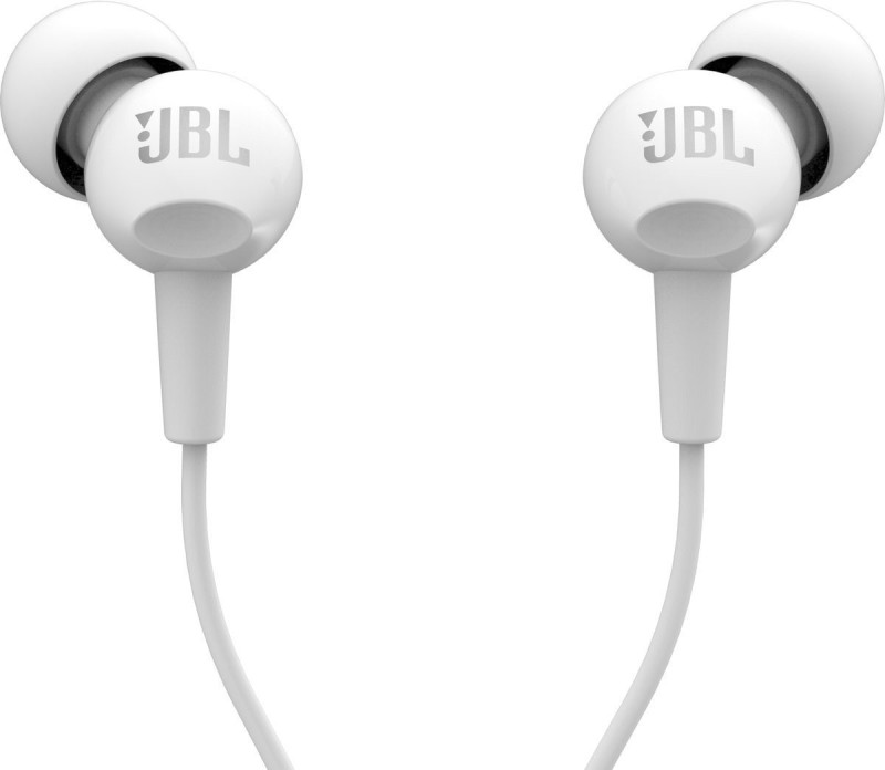 JBL C150SI Wired Headset with Mic(White, In the Ear)