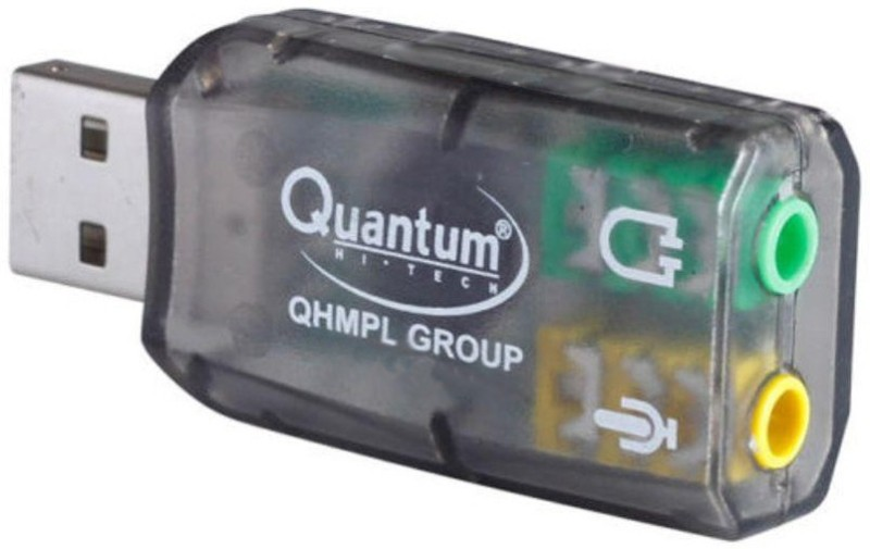 Quantum USB Sound Card USB Internal Sound Card(5.1 Audio Channel)